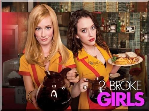 2 broke girls,sitcom,humour,sexy,kat dennings,beth behrs,max black,caroline channing